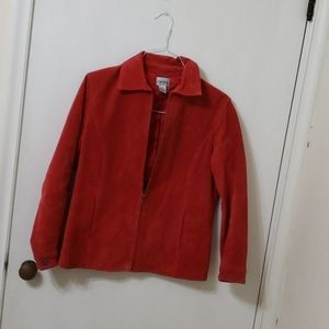 Chicos leather jacket red